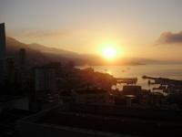 východ slnka za menej v Monaku