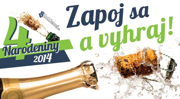 4. Veľká narodeninová súťaž ZaMenej.sk - 44 cien počas 44 dní