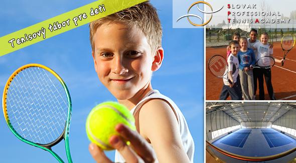 Fotka zľavy: Najlepšia cena denných letných kempov len od SPTA - teraz za 13€. Tenisový kemp v Malinove a v Matuškove pod vedením profesionálnych lektorov. Šport, hry a zábava pre deti.