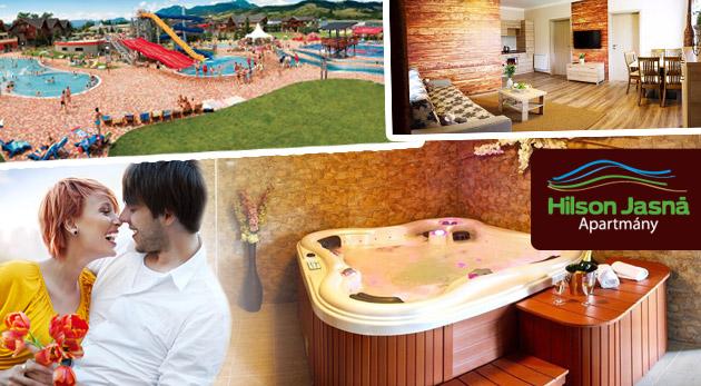 Fotka zľavy: 3 dňový wellness pobyt pre dvoch v Nízkych Tatrách v nadštandardných apartmánoch so samostatnou spálňou a obývačkou len za 119€. Vstup do Gino Paradise Bešeňová v cene.