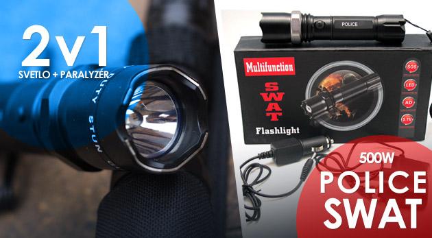 Fotka zľavy: Dobíjacia baterka POLICE so zoomom alebo s paralyzérom už od 12,99€. Praktický pomocníci prinášajúci svetlo všade tam, kde ho práve potrebujete. Osobný odber alebo zaslanie poštou.