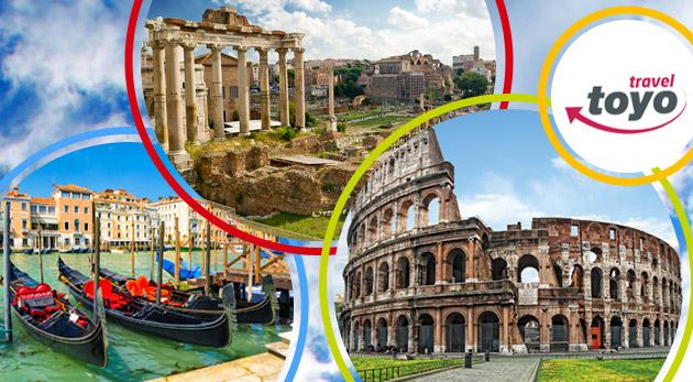 Fotka zľavy: Skvelý 5-dňový zájazd do hlavného mesta Talianska a úžasných Benátok len za 168€ pre 1 osobu. V cene ubytovanie, raňajky, služby sprievodcu a zákonné poistenie. Potešte seba aj svojich blízkych.