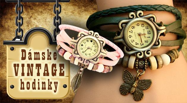 Fotka zľavy: Dámske hodinky s remienkom zdobeným príveskom lístočku alebo motýlika v módnych farbách v štýle VINTAGE len za 5,99€. Originálny a užitočný šperk pre každú dámu!
