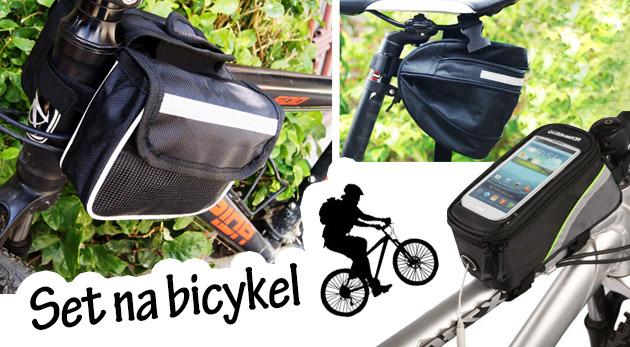 Fotka zľavy: Cyklistické pomôcky pre odkladanie potrebných drobností len za 8,99€. Vychutnajte si jazdu na bicykli a majte dôležité drobnosti v bezpečí!