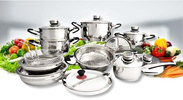 Fotka zľavy: Užite si kvalitu v kuchyni - od prípravy až po konzumáciu! Fantastická multifunkčná sada 21 kvalitných hrncov, vhodná i na komínové varenie len za 66,90€.