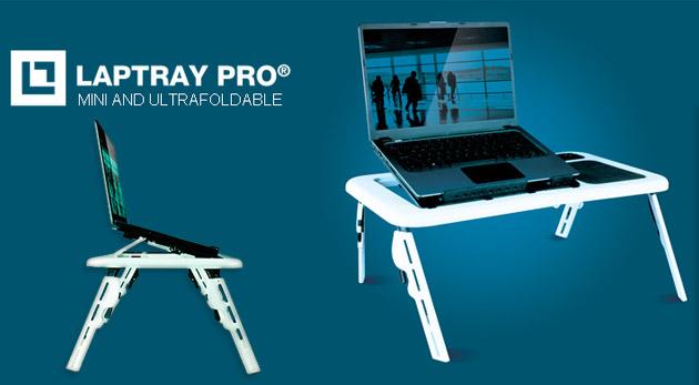 Fotka zľavy: Stojan na notebook Laptray Pro® Mini s chladiacou podložkou len za 16,99€. Nastaviteľný, skladateľný, a prenosný. Vytvorte vášmu počítaču ideálne podmienky a tešte sa z jeho lepšej výkonnosti!