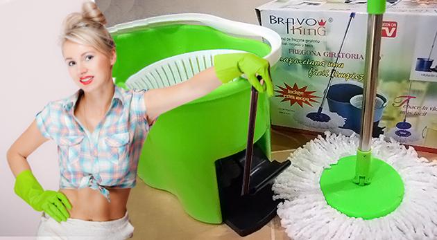 Fotka zľavy: Magic Mop 360º s náhradnou textilnou hlavicou - praktický pomocník do domácnosti len za 11,98€. Jednoduché a precízne upratovanie!