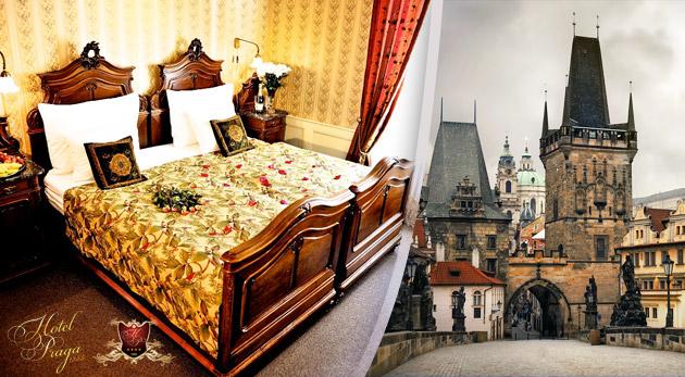 Fotka zľavy: Hotel PRAGA 1885**** - romantické ubytovanie v historickom centre pre dvojicu už od 44,50€ s raňajkami alebo polpenziou. Platnosť až do 31.3.2015 a deti do 6 rokov zadarmo!