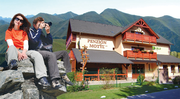 Fotka zľavy: Kráľovský pokoj počas 3 dní len za 84€ v Penzióne Motýľ. Polpenzia, zľavy na vstupné do Bešeňovej, Kúpeľov Lúčky i do Tatralandie. Relaxujte na maximum!