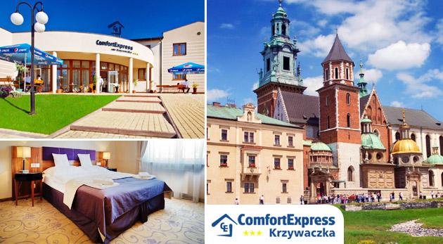 Fotka zľavy: Pobyt na 3 alebo 4 dni pre dvoch s raňajkami a skvelou večerou už od 59,90€ v modernom hoteli Comfort Express***  v blízkosti Krakova a soľnej jaskyne Wieliczka. Spoznajte krásy poľských miest!