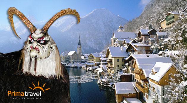 Fotka zľavy: Najväčší beh čertov Rakúska v Schladmingu, historický Salzburg, Wolfgangsee, Hallstatt - to všetko počas 2 víkendových dní len za 99€. V cene doprava, ubytovanie s raňajkami a sprievodca.