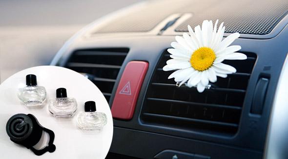 Fotka zľavy: Dlhotrvajúci osviežovač do auta s troma náhradnými náplňami len za 2,10€. Neutralizuje pachy v aute pre váš príjemný pobyt za volantom!