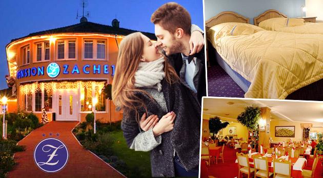 Fotka zľavy: Romantický pobyt pre dvojicu v nadštandardnom Penzióne*** Zachej v Piešťanoch s pestrými službami len za 106€ vrátane polpenzie, welcome drinku a bowlingu.