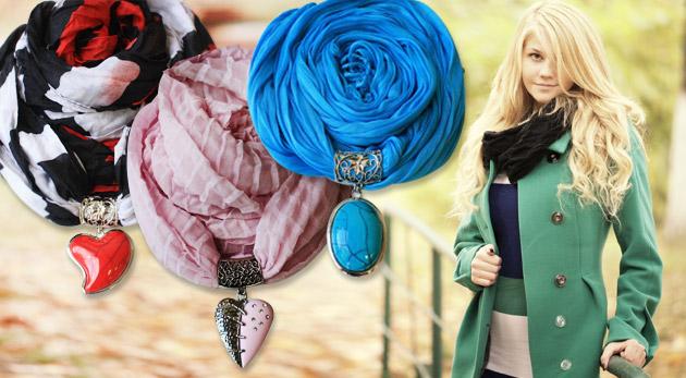 Fotka zľavy: Vyberte si z 18 druhov štýlových šatiek rôznych farieb s jedinečnými príveskami len za 5,90€ a doplňte váš jesenný šatník drobnosťou, ktorá vás okrášli a zároveň zohreje!