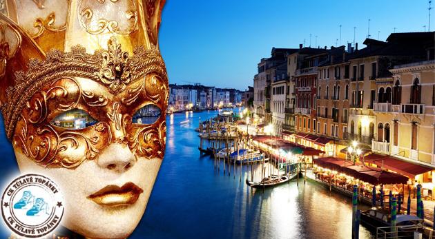 Fotka zľavy: Svetoznámy benátsky karneval len za 55€ vás privíta vo všetkej svojej paráde a farbách. Úžasná atmosféra karnevalu počas sviatku zamilovaných.