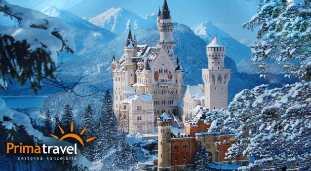 Fotka zľavy: Spoznajte skvosty medzi bavorskými zámkami, ochutnajte skvelý kláštorný likér a prejdite sa po adventných trhoch v známom Garmish-Partenkirchen len za 119€. V cene doprava i ubytovanie s raňajkami.