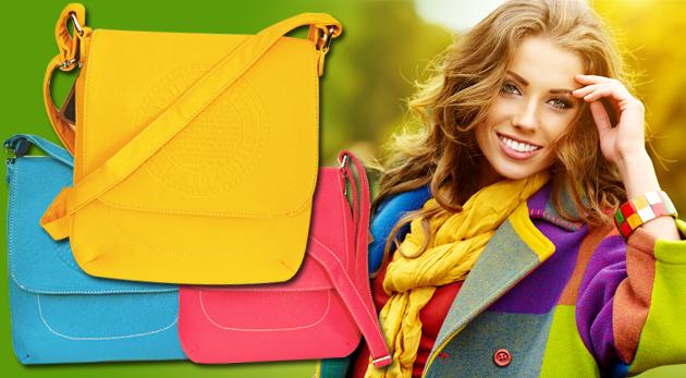 Fotka zľavy: Kožená dámska kabelka len za 9,90€. Vyberte si z troch milých farieb a zlaďte sa do dokonalosti!