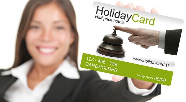 Fotka zľavy: Karta HolidayCard už od 14,50 €. Prenocujete v takmer 200 hoteloch, penziónoch a apartmánoch na Slovensku a v Čechách za polovičné ceny!