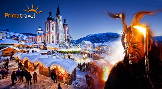 Fotka zľavy: Vianočný Mariazell - poznávací zájazd len za 24,90€. Romantická atmosféra, rozvoniavajúce perníčky, vynikajúce likéry, medovina a divoký Beh čertov.