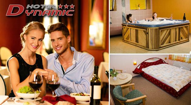 Fotka zľavy: Romantický wellness pobyt pre dvojicu v Hoteli Dynamic*** pri Trenčíne už od 59 € vrátane lahodnej polpenzie, neobmedzeného fitness a wellness a zľavového balíčka. Deti do 3 rokov zadarmo!