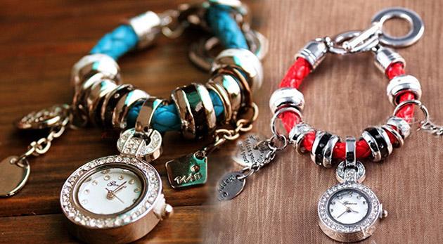 Fotka zľavy: Unikátne dámske hodinky v štýle náramku od známej značky Geneva len za 13,90€ vrátane poštovného a balného. Vyberte si vkus a eleganciu zo štyroch farieb!