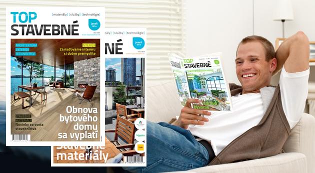 Fotka zľavy: Polročenky časopisu Top Stavebné od 1,49€ vrátane poštovného. Novinky, trendy a inšpirácie zo sveta dizajnu, stavebných materiálov, moderných technológií a bývania!