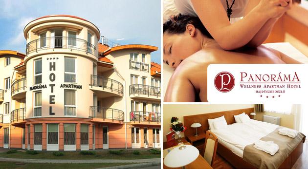 Fotka zľavy: Wellness pobyt pre dvojicu v Panoráma Wellness Apartman Hotel**** v Hajdúszoboszló už od 119 € s polpenziou, masážami, hotelovým wellness a vstupom do termálnych kúpeľov Hungarospa!