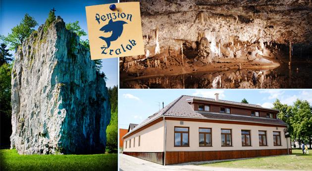 Fotka zľavy: Relax a spoznávanie krás podzemia v Moravskom krase v Penzióne Žralok len za 55 €! Raňajky, večera a krásy prírody, jaskýň, priepastí a zámkov!