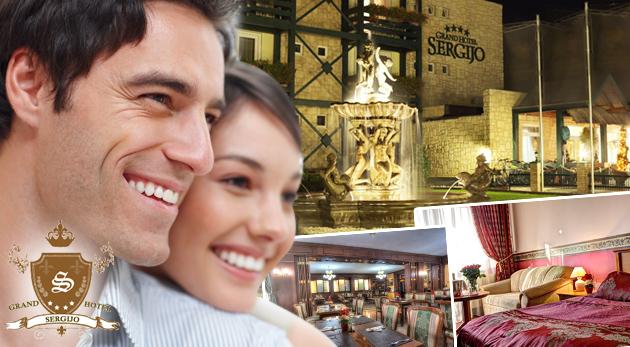 Fotka zľavy: Luxus a romantika počas 3 dní v GRAND BOUTIQUE HOTEL SERGIJO****  len za 115€ s vašou polovičkou. Bohaté raňajky, večera pri sviečkach, hodinový wellness - nezameniteľné chvíle vo dvojici!