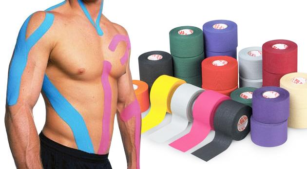Fotka zľavy: Proti bolesti svalov, kĺbov a šliach a ako prevencia a liečba úrazov sú tu tejpovacie pásky len za 5,40€. Už žiadne bandáže, obväzy a analgetiká, vyskúšajte kineziotaping!