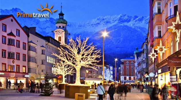 Fotka zľavy: Navštívte Insbruck a obdivujte krásy Tirolska so zasneženými alpskými vrcholmi v pozadí a úžasnou vianočnou náladou. Zájazd s dopravou, ubytovaním, raňajkami a službami sprievodcu len za 119€!