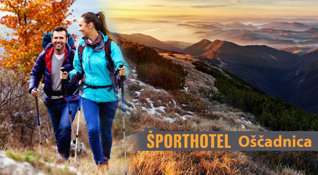 Fotka zľavy: Pobyt na 3 dni v Športhoteli Oščadnica v krásnom prostredí jesenných Kysúc. Navyše s plnou penziou, možnosťou naplánovania trás na nordic walking a lyžiarskym vlekom 500 m od hotela za 89 € pre dvoch.