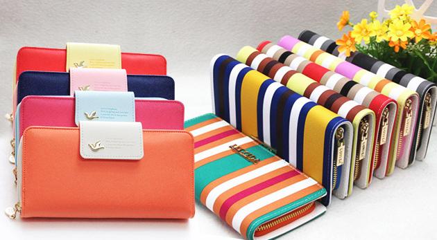 Fotka zľavy: Vyberte si zo širokej ponuky dámskych peňaženiek od 9,90€ vrátane poštovného a balného. Pásikavé a farebné peňaženky vo farbách od výmyslu sveta!