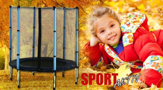 Fotka zľavy: Kvalitná trampolína s priemerom 140 cm s ochrannou sieťkou a servisom len za 49,99€. Praktický i zábavný darček pre deti vhodný do interiéru i exteriéru!