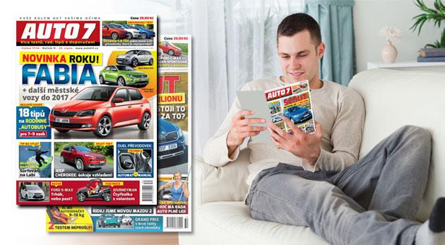 Fotka zľavy: Predplatné automobilového časopisu AUTO 7 na polroka alebo na rok už od 10 € vrátane poštovného. Aktuálne informácie, tipy, rady a nápady, ktoré pomáhajú v orientácii na trhu.