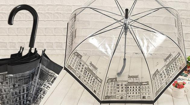 Fotka zľavy: Štýlový retro dáždnik len za 10,90€ vrátane poštovného a balného v štyroch hravých motívoch. Moderná a praktická ochrana aj proti tým najdivokejším kvapkám!