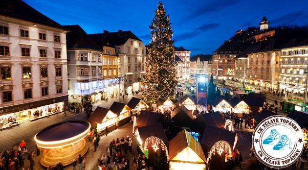Fotka zľavy: Posvieťte si na dominanty druhého najväčšieho mesta Rakúska - Grazu, nasajte jeho vianočnú atmosféru a príjemne sa zachvejte v sprievode čertov. Zájazd vrátane dopravy i sprievodcu len za 21€!