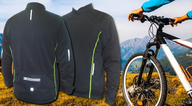 Fotka zľavy: Kvalitné pánske cyklotričko s reflexnými prvkami s mikroflysom a vláknom Topcool len za 5,99€. Jazdite aj počas sychravých dní na vašom bicykli v suchu a v teple!
