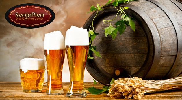 """Fotka zľavy: Načapuj svojim parťákom pivo uvarené podľa tvojho gusta pomocou súpravy na výrobu piva za 24,99€. Z tvojej """"tutovky"""" im zaručene padnú sánky! Možnosť osobného odberu v Bratislave."""