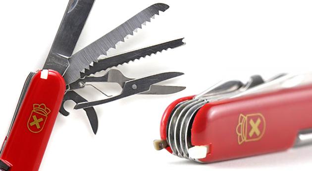 Fotka zľavy: Praktický vreckový nožík s funkciami ako nožnice, pílka či otvárak na konzervy len za 2,99€. Postačí 1 nástroj na množstvo funkcií. Nech ste kdekoľvek, vynájdete sa!
