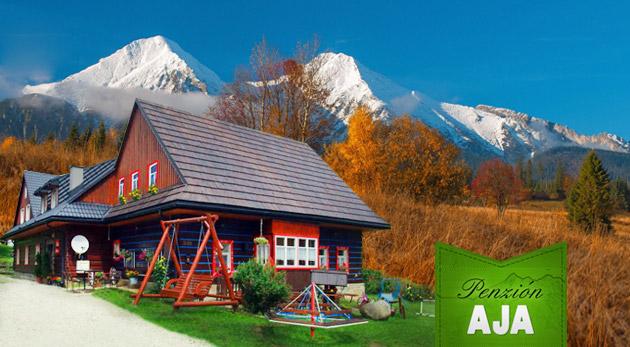 Fotka zľavy: Úžasný jesenný horský pobyt v zrubovom Penzióne AJA pre dvojicu len za 69 €. Raňajky, večera pri sviečke, lukostreľba, požičanie bicykla a množstvo ďalších zliav. Deti do 5 rokov zadarmo!