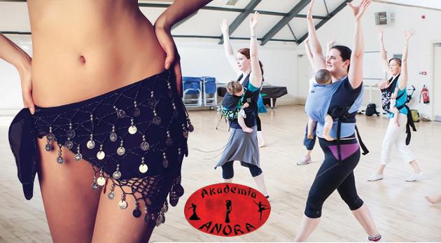 Fotka zľavy: Tanečné kurzy brušných tancov alebo Mama Baby Dance pre mamičky s deťmi od 6 mesiacov do 2 rokov už od 13€. Zabavte sa vo veselej spoločnosti a urobte blaho pre vašu psychiku i telo!