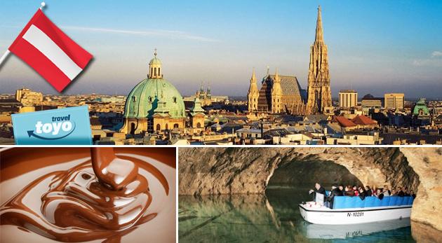Fotka zľavy: Vyrazte do Viedne, prehliadnite si jej historické centrum, navštívte čokoládovňu a jaskynné jazero až 60 m pod zemou. Zájazd vrátane dopravy, sprievodcu a zákonného poistenia len za 19,50€!