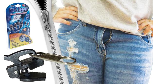 Fotka zľavy: Revolučný opravár zipsov FIX ZIPPER - 6 kusov len za 5,99€. Nepokazte si radosť z obľúbených vecí pokazeným zipsom!