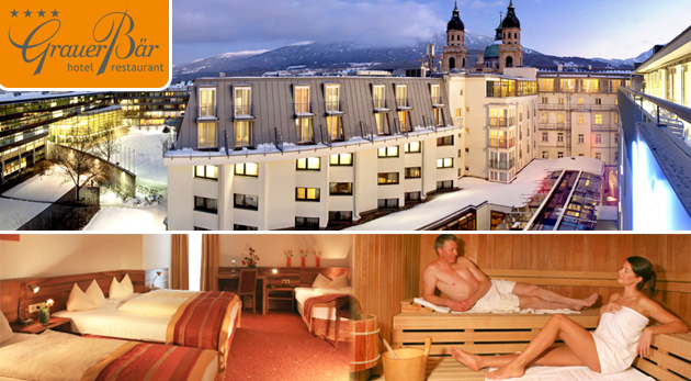 Fotka zľavy: Luxusná dovolenka v srdci rakúskych Álp - Hotel Grauer Bär**** v historickom centre Innsbrucku len za 339 € s polpenziou, skipasom, skibusom a neobmedzeným wellness. Deti do 5 rokov zadarmo!