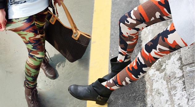 Fotka zľavy: Rebelské maskáčové dámske legíny v troch farbách len za 9,90€. Nahoďte sa podľa svetových trendov!
