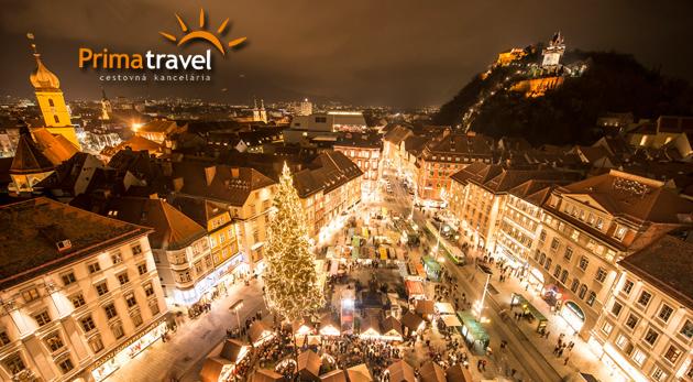 Fotka zľavy: 1-dňový autobusový zájazd na vianočné trhy v druhom najväčšom meste Rakúska len za 25,90 €. Čakajú vás krásne vyzdobené tradičné trhy, prehliadka mesta a ľadový betlehem.