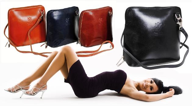 Fotka zľavy: Kvalitná kožená kabelka v piatich farbách len za 24,99€. Dolaďte svoj look do dokonalosti so štýlovým doplnkom!