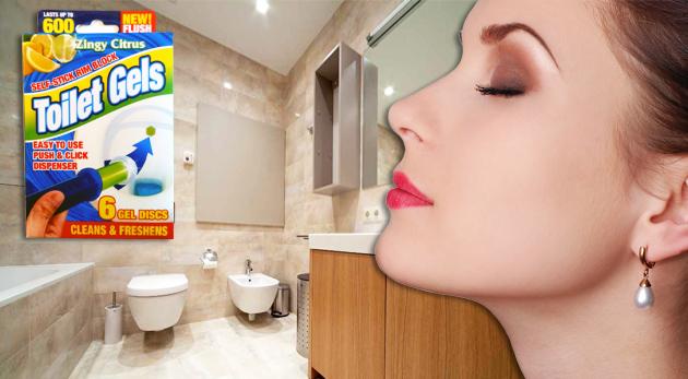 Fotka zľavy: Jednoducho aplikovateľné WC osviežovače s hygienickým dávkovačom gélových diskov - až tri balenia len za 5,99€ vrátane poštovného a balného. Aby všade vládla len sviežosť a čistota!