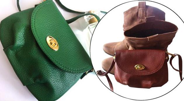 Fotka zľavy: Módna dámska mini kabelka z eko kože len za 6,90 €. Vyberte si tú vašu z 9-tich obľúbených farieb!